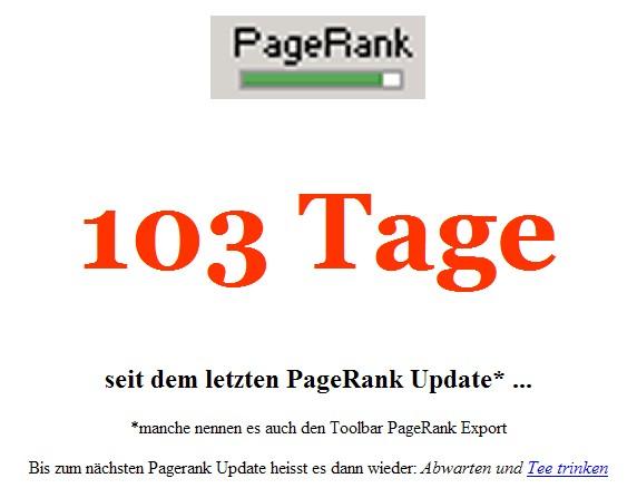 Wir warten aufs PageRank