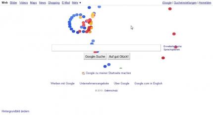 Google Logo 07.09.2010 IE8, Aktion2