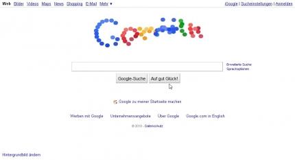 Google Logo 07.09.2010 IE8, Aktion1