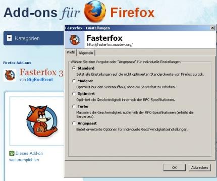 Fasterfox Firefox Addon