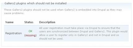 Registration -Plugin in Gallery2