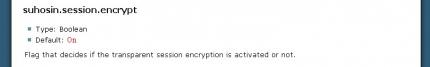 Shosin.session.encrypt steht in der Standard-Einstellung auf an