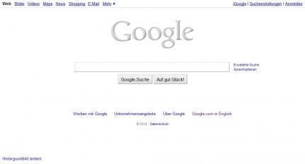 graues Doodle Google Logo
