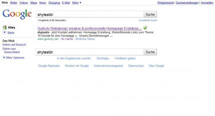 Der Google Shy-Test